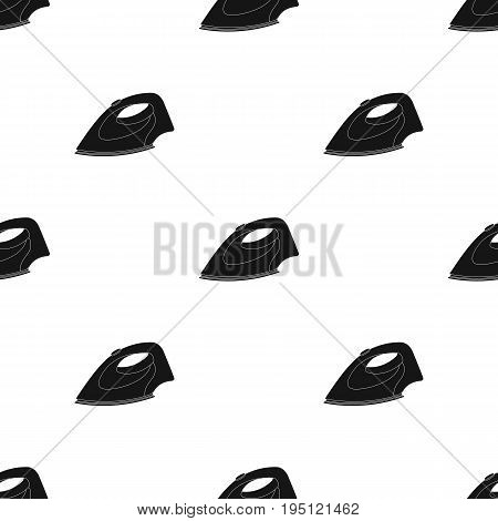 Iron for ironing. Dry cleaning single icon in black style vector symbol stock illustration .