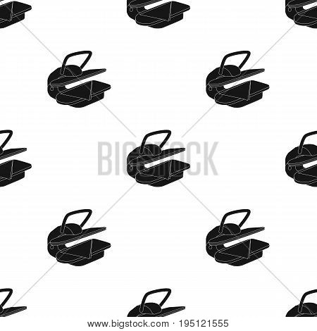 Press for ironing linen. Dry cleaning single icon in black style vector symbol stock illustration .