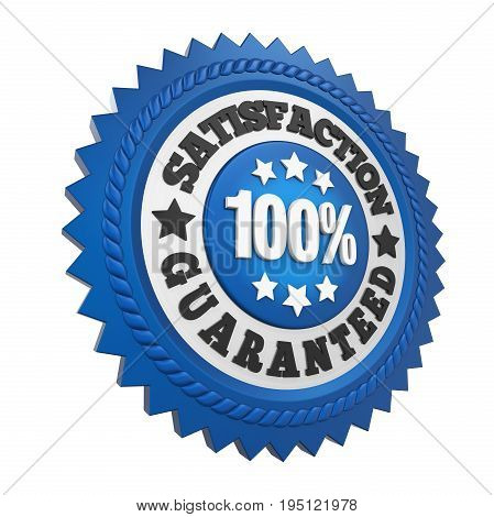 Satisfaction Guaranteed Label isolated on white background. 3D render