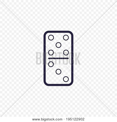 Domino Game Simple Line Icon. Game Thin Linear Signs. Outline Concept For Websites, Infographic, Mob