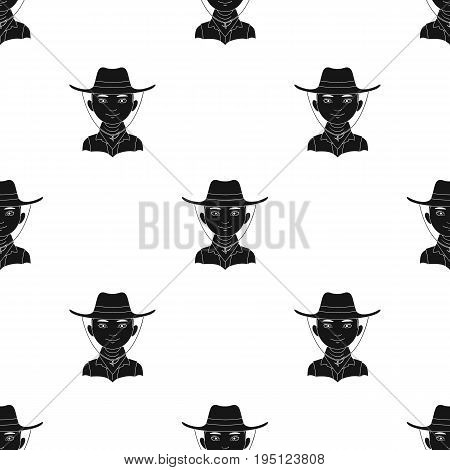 Amnricanian.Human race single icon in black style vector symbol stock illustration .