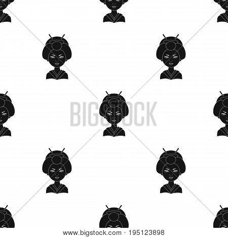 Japanese.Human race single icon in black style vector symbol stock illustration .