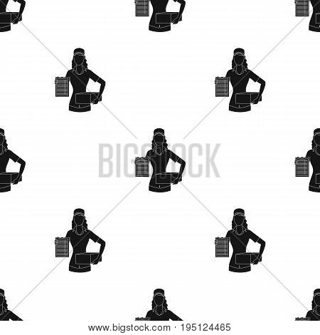 Postal courier.Mail and postman single icon in black style vector symbol stock illustration .