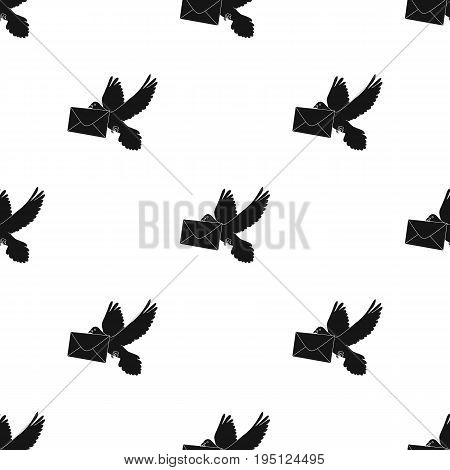 Post pigeon.Mail and postman single icon in black style vector symbol stock illustration .