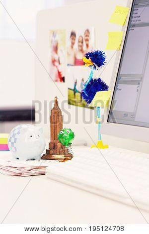 Souvenirs on Desk