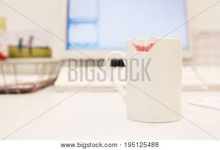 Lipstick Print on Coffee