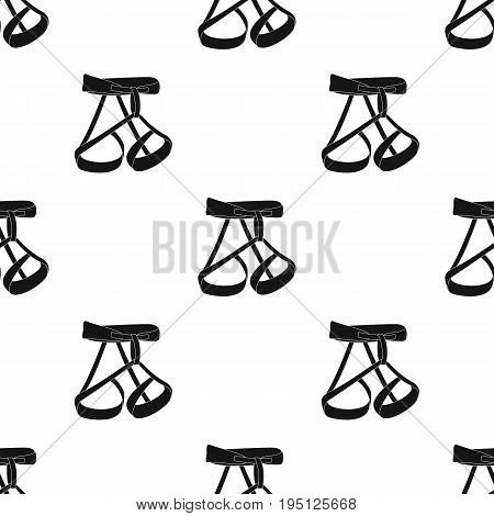 Climbing strapping, insurance.Mountaineering single icon in black style vector symbol stock illustration .