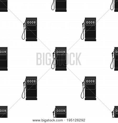 Petrol filling station.Oil single icon in black style vector symbol stock illustration .