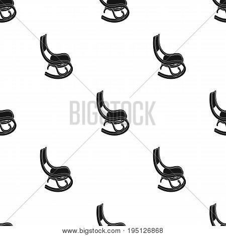 Rocking chair.Old age single icon in black style vector symbol stock illustration .