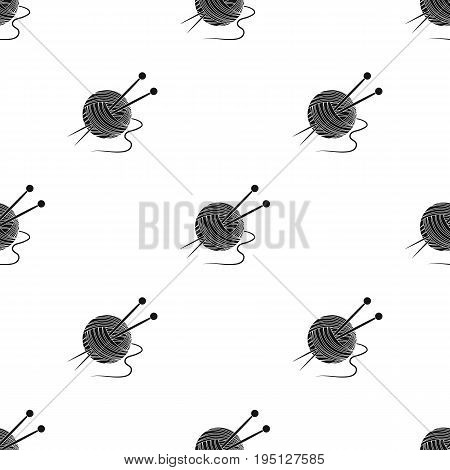 Knitting.Old age single icon in black style vector symbol stock illustration .