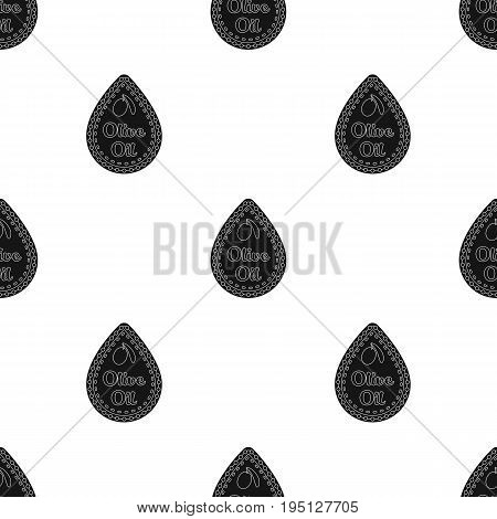 Label of olive oil.Olives single icon in black style vector symbol stock illustration .