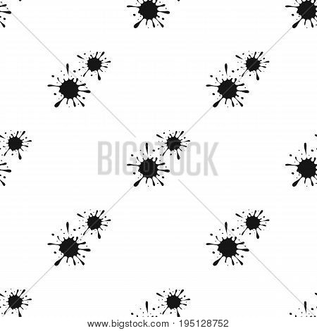 Drops, spray paint.Paintball single icon in black style vector symbol stock illustration .