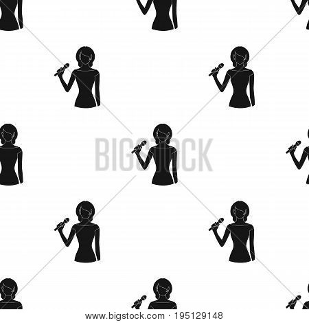 Singer.Professions single icon in black style vector symbol stock illustration .