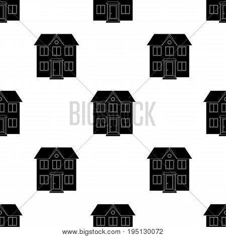 Private cottage.Realtor single icon in black style vector symbol stock illustration .