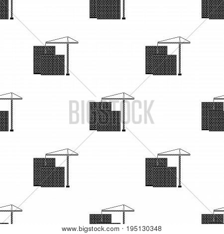 Construction of houses, real estate.Realtor single icon in black style vector symbol stock illustration .