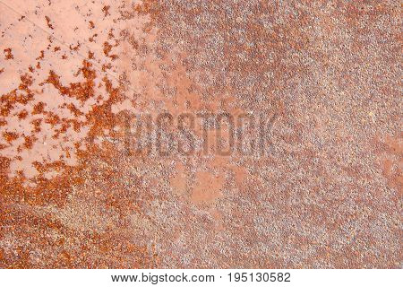 Rust texture on metal rusted surface- background