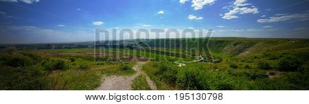Landscape of Reut river in Orhey region in Moldova