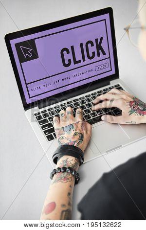 Click Mouse Cursor Sign Concept