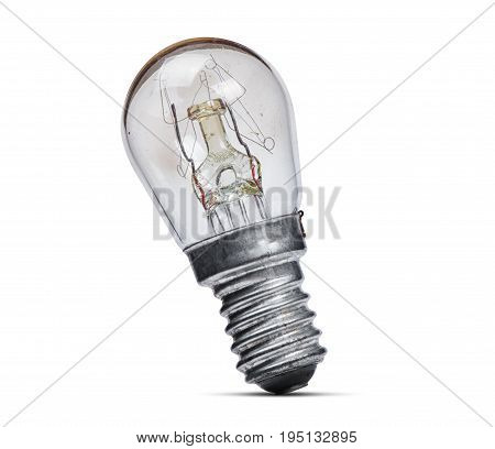 Old incandescent lamp isolated on white background