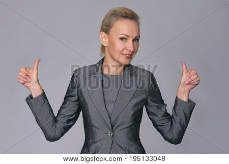 Confident Middle Aged Businesswoman