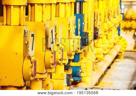 Control valve in oil and gas processValve used to controlled pressureopen and closeShow position on and off in the systemOil and gas industry use to controlled the system.