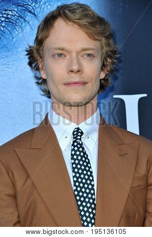 Alfie Allen at the HBO's 'Game Of Thrones' Season 7 premiere held at the Walt Disney Concert Hall in Los Angeles, USA on July 12, 2017.