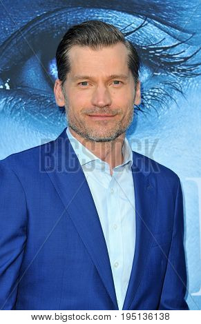 Nikolaj Coster-Waldau at the HBO's 'Game Of Thrones' Season 7 premiere held at the Walt Disney Concert Hall in Los Angeles, USA on July 12, 2017.