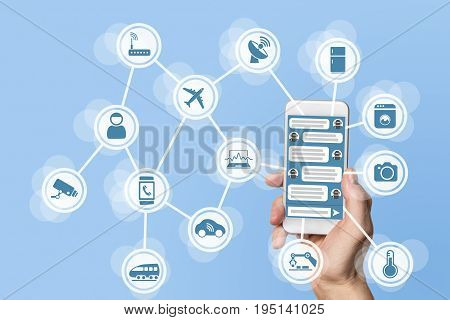 Chatbot concept for internet of things (IOT)