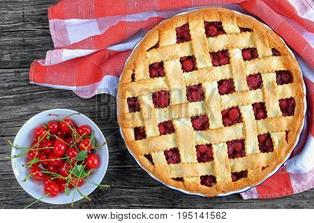 Cherry Pie With Pretty Lattice Top