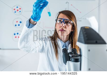 Biotechnology Research, One Woman Only, Toned Image