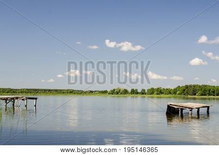 Summertime like background vacation and relaxation at the lake