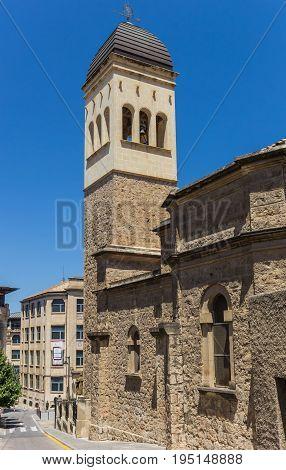ALCOY, SPAIN - JUNE 14, 2017: San Vicente Ferrer church in the historic center of Alcoy, Spain