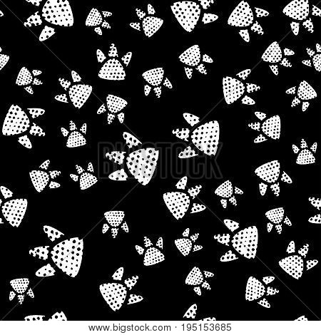 Simple, cute kids pattern, trace a predator dinosaur form an interesting pattern. Completed in monochrome, black and white colors.