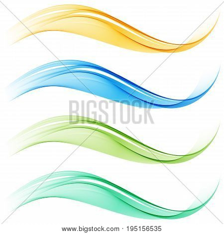 Set of blend abstract wave. Abstract waves.Background waves.