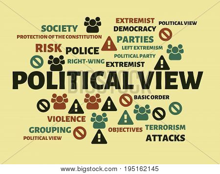 Political View - Aid - Image With Words Associated With The Topic Extremism, Word, Image, Illustrati