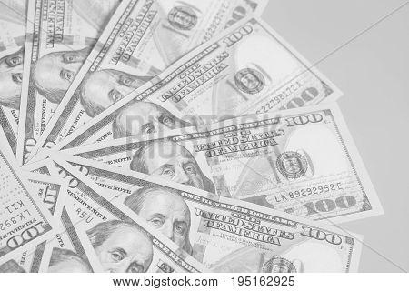 Circle Made From Hundred Dollar Us Bills