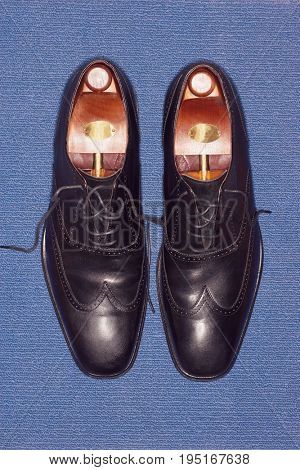 Pair of Black Leather Wingtips