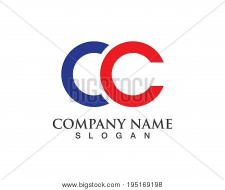 Letter CC Logo Template Design Vector and symbols