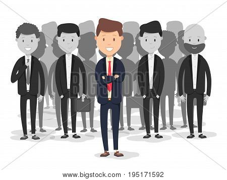 Recruitment process human resources. Hiring business staff vector flat cartoon illustration. Choice of employee concept infographic.