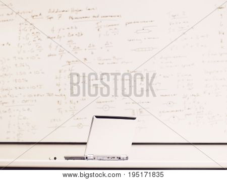 Laptop in Mathematics Class