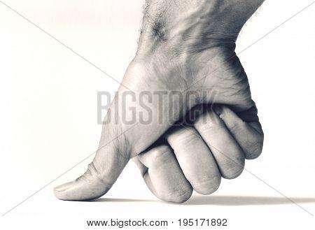 Thumb Pressing Down