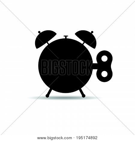 Clock On Winding Illustration