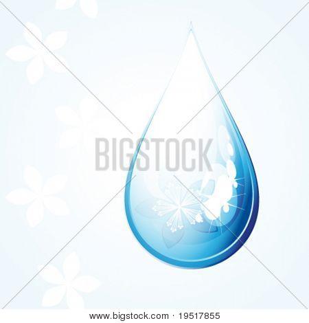 Vector Flower drop