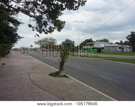 A Quiet road somewhere un Campeche mexico