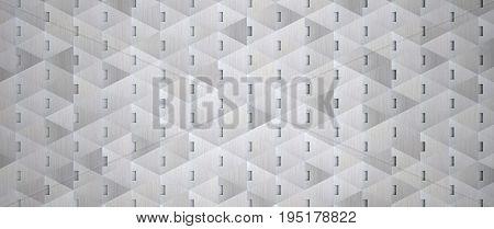 A creative 3D wide aluminum metal background