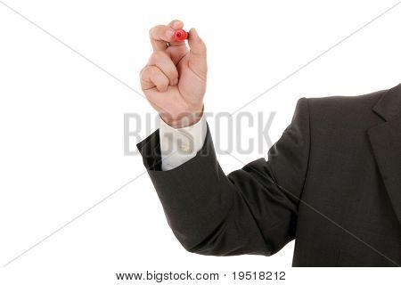 Mão com um marcador