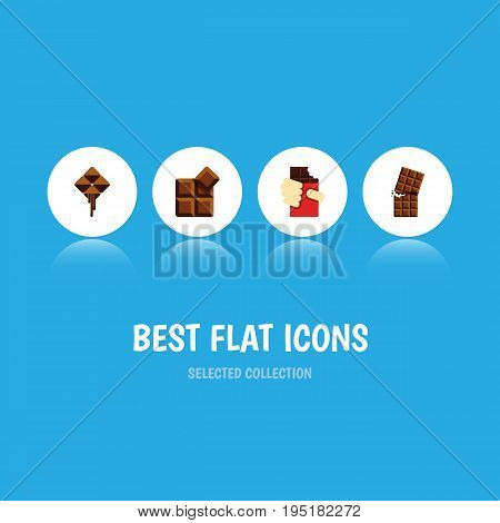 Flat Icon Cacao Set Of Shaped Box, Delicious, Cocoa And Other Vector Objects. Also Includes Delicious, Box, Wrapper Elements.