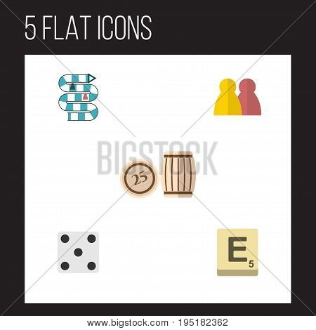 Flat Icon Play Set Of People, Mahjong, Multiplayer And Other Vector Objects. Also Includes Gambling, Dice, People Elements.