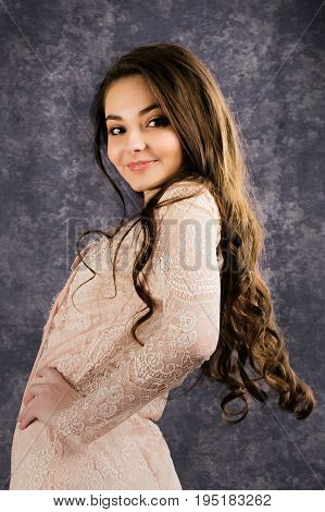 Teenage Girl Poses For In Studio Portraits
