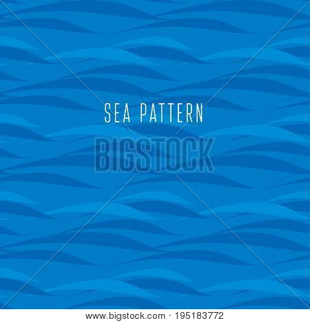 blue wave seamless water pattern. vector illustration